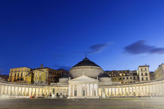 Basilica Reale San Francesco di Paola in Naples, Italy Royalty Free Stock Image