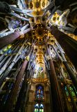 Basilica of redemptive temple of the Holy Sagrada family by Antonio Gaudi royalty free stock photos