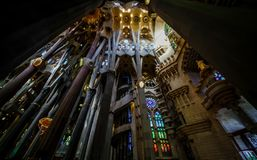 Basilica of redemptive temple of the Holy Sagrada family. Barselona, Spain,November 14, 2017. The Basilica redemptive Temple of the Holy family Sagrada by stock image