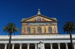 Basilica Roma della facciata Fotografia Stock