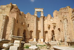 basilica roman libya arkivfoto