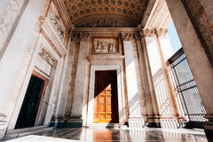 Basilica in rome. The entrence of a Basilica in rome Royalty Free Stock Photo