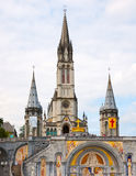 Basilica of the Rosary in Lourdes Stock Photography