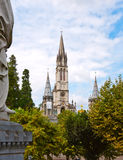 Basilica of the Rosary in Lourdes Royalty Free Stock Image