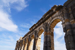The Basilica at the ruined roman city of Volubilis Royalty Free Stock Photography