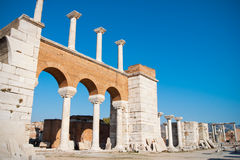 Basilica ruins in Ephesus. Ruins od Saint John basilica in Ephesus, Turkey Royalty Free Stock Photography