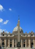 Basilica S.Pietro, Rome Italy. The Basilica S.Pietro (Vatican city) in Rome, Italy. Set against a crisp blue sky Royalty Free Stock Image