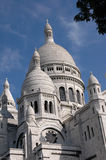 The Basilica of the Sacré Couer, Paris. Crop of the domes and minarets of the Sacre Couer cathedral in Paris Stock Photography