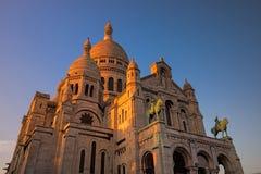 Basilica sacra del cuore di Montmartre Immagine Stock Libera da Diritti