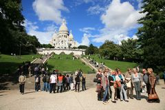 Basilica of the Sacre Cœur Royalty Free Stock Photos