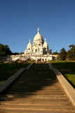 Basilica of Sacre Coeur. Church of the Sacred Heart is the trademark of the Monmartre Hill, in Paris, France stock images