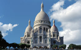 Basilica of the Sacre-Coeur. The Basilica of the Sacre-Coeur, Montmartre, Paris Royalty Free Stock Image
