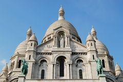 Basilica of Sacre-Coeur cathedral in Paris. Basilica of Sacre Coeur cathedral exterior, Paris, France Royalty Free Stock Images