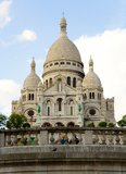 Basilica Sacre-Coeur on the Montmartre hill Stock Photos