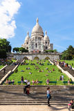 Basilica Sacre Coeur on Montmartre hill, Paris, France Royalty Free Stock Photos