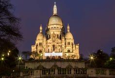 Basilica Sacre Coeur in Montmartre a Parigi Fotografia Stock