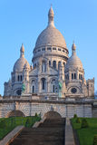 Basilica of Sacre-Coeur in Montmartre, Paris. Royalty Free Stock Photos
