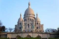 Basilica of Sacre-Coeur in Montmartre, Paris. Royalty Free Stock Image