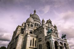 The Basilica of Sacre Coeur in Montmartre Stock Photography