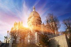 The Basilica of Sacre-Coeur, Montmartre. Paris.  Stock Photo