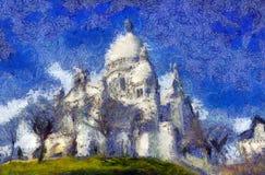 Basilica of Sacre-Coeur, Montmartre. Paris. Basilica of Sacre-Coeur, Montmartre. Paris Stock Image