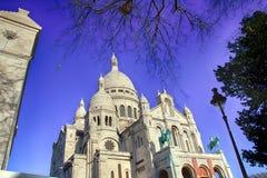 Basilica of the Sacre Coeur of Montmartre in Paris. Stock Photos