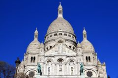 Basilica of the Sacre Coeur of Montmartre in Paris. Royalty Free Stock Photography