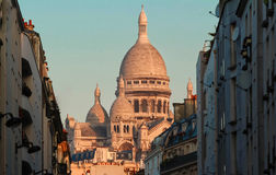 The basilica of Sacre-Coeur in Montmartre, Paris. Royalty Free Stock Photo