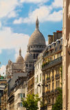 The basilica of Sacre-Coeur in Montmartre, Paris. Royalty Free Stock Image