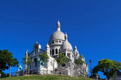 The basilica of Sacre-Coeur in Montmartre, Paris. Royalty Free Stock Photography