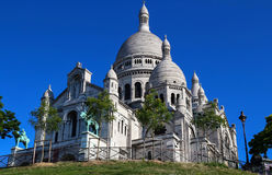 The basilica of Sacre-Coeur in Montmartre, Paris. Stock Photo