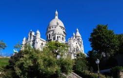The basilica of Sacre-Coeur in Montmartre, Paris. Stock Photos