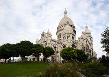 Basilica of Sacre Coeur, Montmartre, Paris, France. View on Basilique of Sacre Coeur, Montmartre, Paris, France Royalty Free Stock Photo