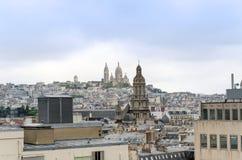 Basilica sacre coeur in Montmartre Stock Photos