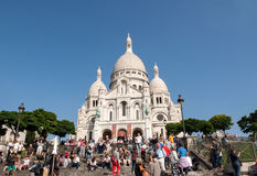 Basilica of the Sacre Coeur on Montmartre, Paris Royalty Free Stock Images