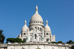 Basilica of the Sacre Coeur on Montmartre, Paris, Stock Photo