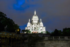 Basilica Sacre Coeur in Montmartre in Paris, France. Royalty Free Stock Photos