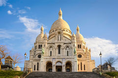 Basilica of Sacre-Coeur in Montmartre, Paris at sunrise Stock Photography