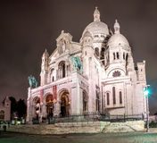Basilica of Sacre Coeur at night, Paris, France. Royalty Free Stock Images