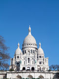 Sacre Coeur Paris. Basilica Sacre Coeur in Paris France with clear blue sky Stock Photos