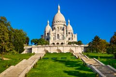 Basilica Sacre Coeur in Paris, France Royalty Free Stock Image