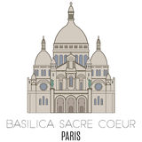 Basilica Sacre Coeur, Paris Royalty Free Stock Photography