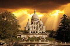 Basilica of Sacre Coeur Royalty Free Stock Photos