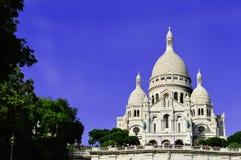 Basilica Sacre Coeur (Sacred Heart) Montmartre in Paris Stock Photo