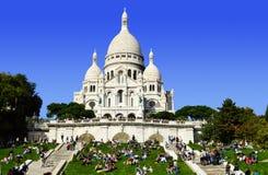 Basilica Sacre Coeur (Sacred Heart) Montmartre in Paris Royalty Free Stock Photos