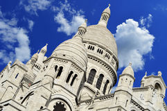 Basilica Sacre Coeur (Sacred Heart) Montmartre in Paris Royalty Free Stock Image