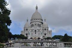 Basilica Sacre-Cour, chiesa sulla collina fotografie stock