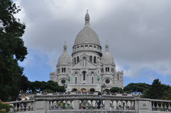 Basilica Sacre-Cour, church on the hill Stock Photos