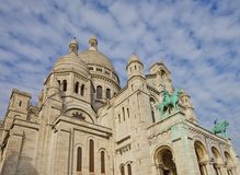 Basilica of the Sacred Heart of Paris (1914). Basilica of the Sacred Heart (Basilique du Sacre-C?ur, 1914). Montmartre hill, Paris, France Stock Photography