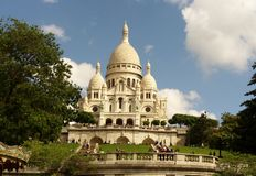 Basilica of the Sacred Heart, Paris, France royalty free stock photography